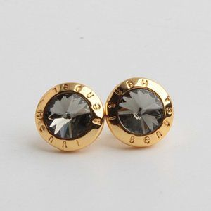 Henri Bendel Round Zircon Stud Earrings